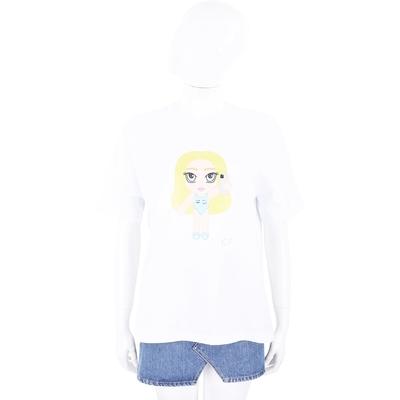 Chiara Ferragni @cfmascotte IG 泳裝女孩白色短袖棉質TEE T恤