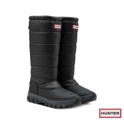 HUNTER - 女鞋-長筒雪靴 - 黑