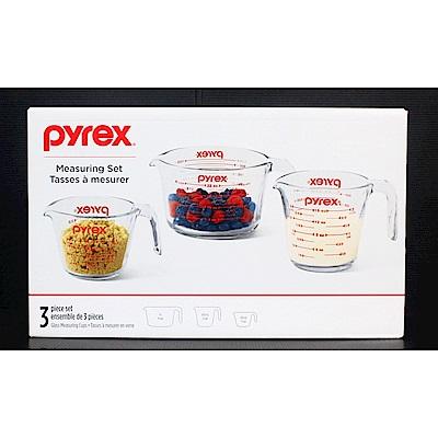 Pyrex 單耳玻璃量杯(3入)