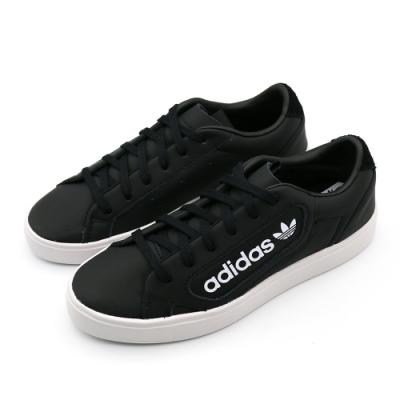 ADIDAS adidas SLEEK 女 休閒鞋 黑-EF4933