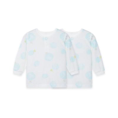 【麗嬰房】Cloudy雲柔系列 植物印花兩粒扣長袖上衣兩件組 (76cm~130cm)