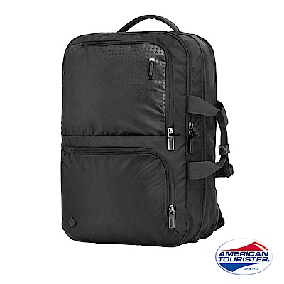 AT美國旅行者 Logix 兩用式大容量功能型筆電後背包(黑)