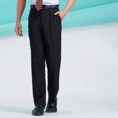 Emilio Valentino范倫鐵諾雙褶長褲_黑細條紋(77-8B1023)