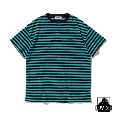 XLARGE S/S PILE BORDER TEE短袖T恤-綠