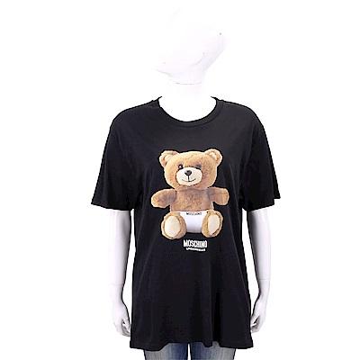 MOSCHINO Underwear 內褲泰迪熊寶寶黑色寬版棉質T恤