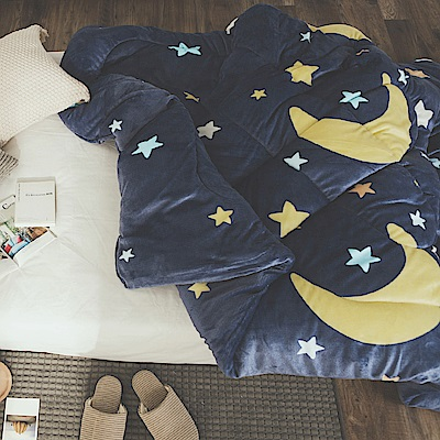 絲薇諾 星月 MIT 雙面法蘭絨被/單人-145×195cm