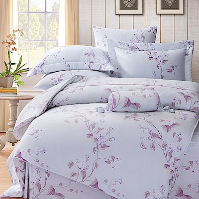 Saint Rose 悠嵐 雙人100%純天絲兩用被套床罩八件組