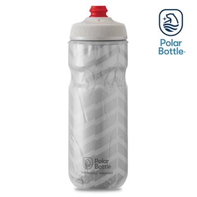 Polar Bottle 20oz 雙層保冷噴射水壺 BOLT 白-銀