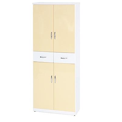 綠活居 阿爾斯環保2.8尺塑鋼四門二抽高鞋櫃(12色)-83x37x180cm免組
