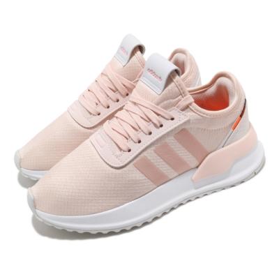 adidas 休閒鞋 U Path X 襪套式 女鞋 愛迪達 三葉草 流行 穿搭 緞面滑布 粉 白 FV9258
