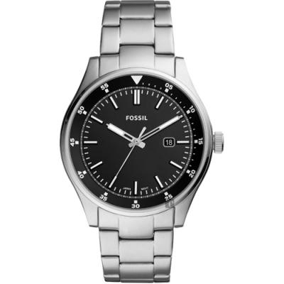 FOSSIL Belmar 當代時尚手錶(FS5530)-黑x銀/44mm