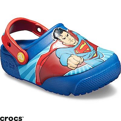 Crocs 卡駱馳 (童鞋) 超人酷閃小克駱格-205515-4GX