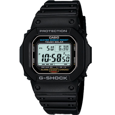 G-SHOCK 變身潮流經典運動休閒太陽能錶(G-5600E-1)-43.2mm