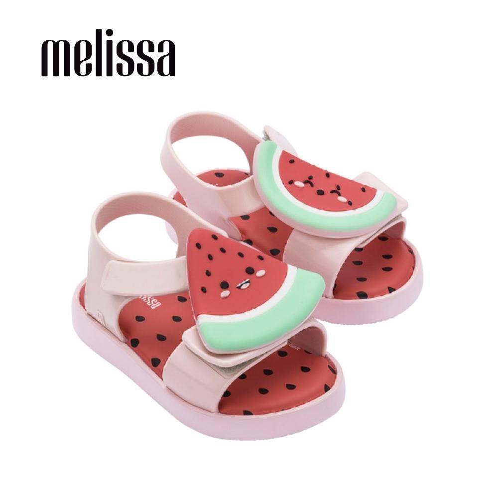 Melissa 可愛水果系列 西瓜造型涼鞋 寶寶款 - 粉