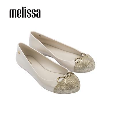 MELISSA SWEET LOVE 簡約蝴蝶結芭蕾舞娃娃鞋-米白