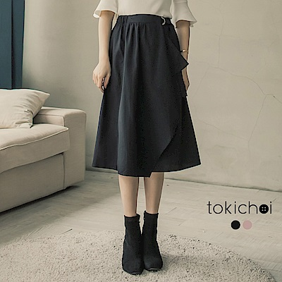 東京著衣 終於等到你小心機不規則一片裙-S.M(共二色)