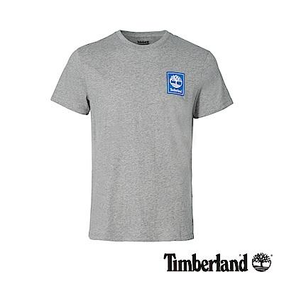 Timberland 男款中灰色LOGO標誌潮流撞色T恤 A1OA5