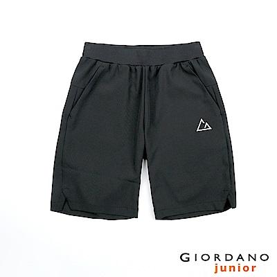 GIORDANO 童裝G-MOTION吸濕排汗運動短褲-09 標誌黑