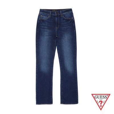 GUESS-女裝-簡約率性直筒牛仔褲-藍