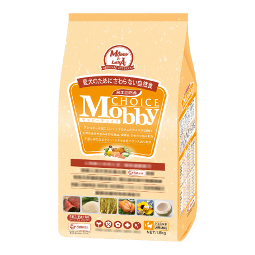 莫比Mobby 羊肉&米 肥滿犬/高齡犬專業配方 3KG 兩包組