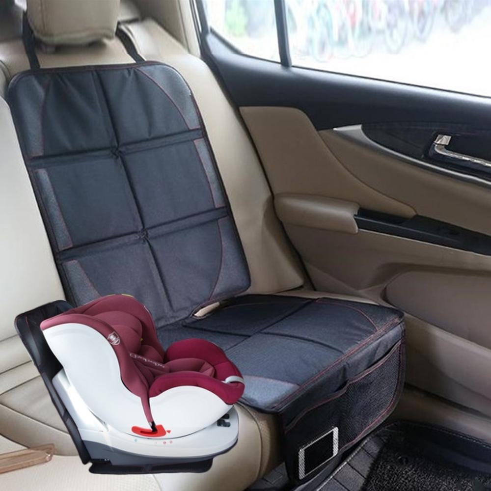 【Cap】嬰幼兒汽車座椅保護墊(加大加厚置物袋設計款)