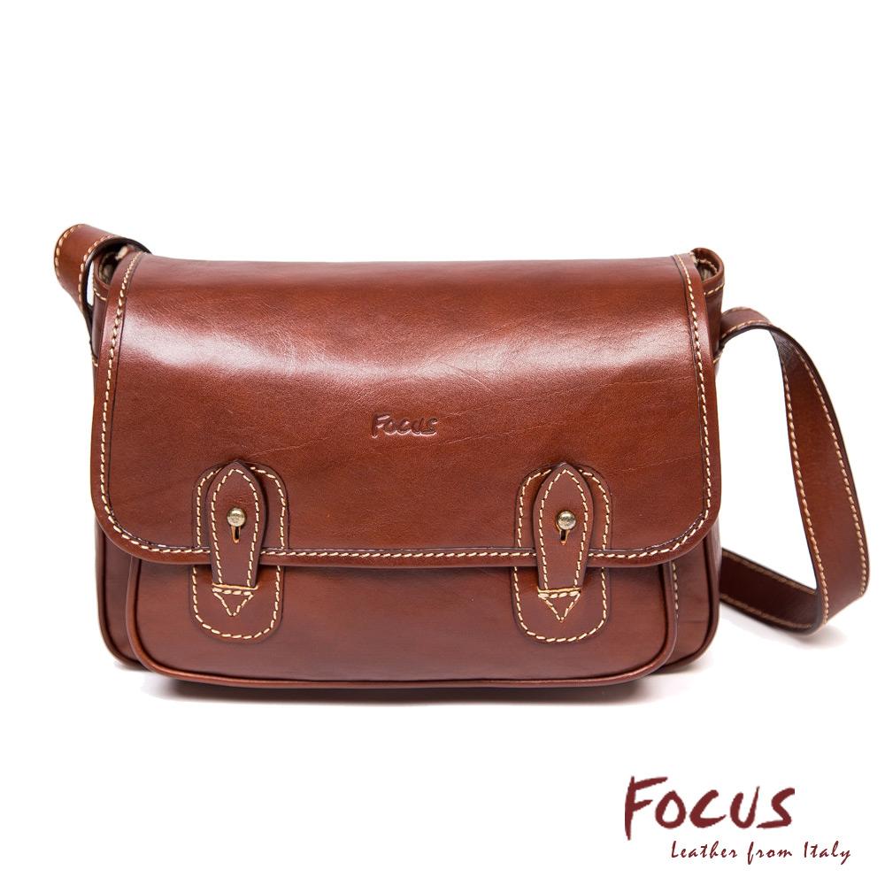 FOCUS經典原皮掀蓋雙扣小書包(FTD8025)