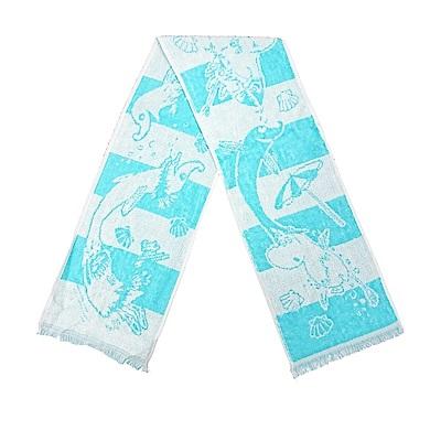 日本丸真 Eco de COOL 涼感運動毛巾- 嚕嚕米與海豚