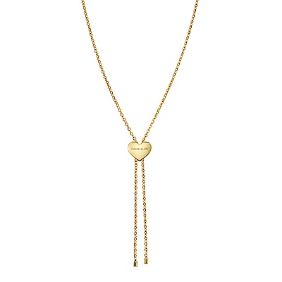 CALVIN KLEIN side 系列項鍊-心型金色版