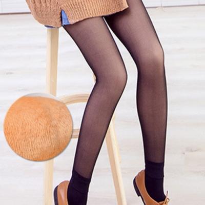 韓國正夯光腿 神器韓國假透膚超顯瘦厚絨亮腿 黑透膚2件組