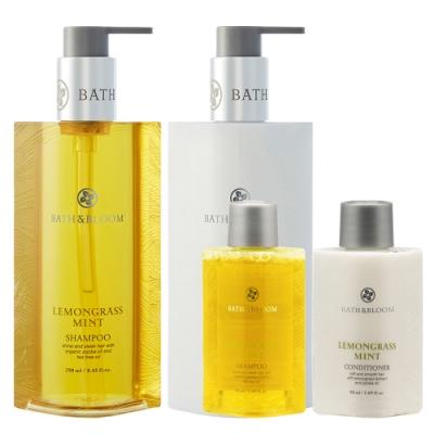 Bath & Bloom 檸檬草薄荷洗潤髮組大送小