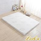 (618限定)LooCa法國防蹣防蚊技術旗艦舒柔2.5cm高規HT乳膠床墊-雙人5尺