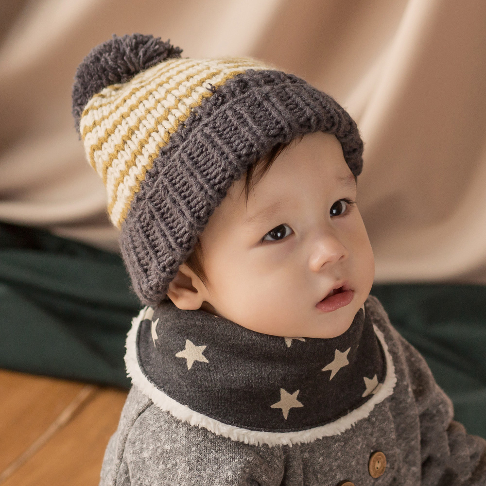 Happy Prince韓國製 Benjamin保暖嬰兒童圍脖圍巾-多色 product image 1