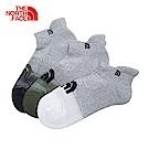 The North Face北面灰白色吸濕排汗三雙裝運動襪|2XY44KH