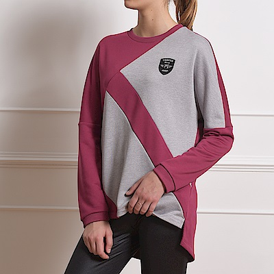 FILA 女長版吸濕排汗圓領T恤-紫色 5TES-5463-PL