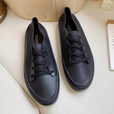 韓國KW美鞋館-舒適流線美身板鞋-黑色