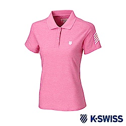 K-SWISS PF RE Melange Polo排汗POLO衫-女-桃紅