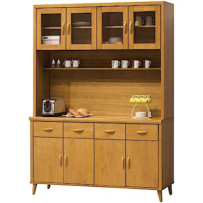 綠活居 米蘭里5.2尺實木餐櫃組合(上+下座)-157x40x201.5cm免組