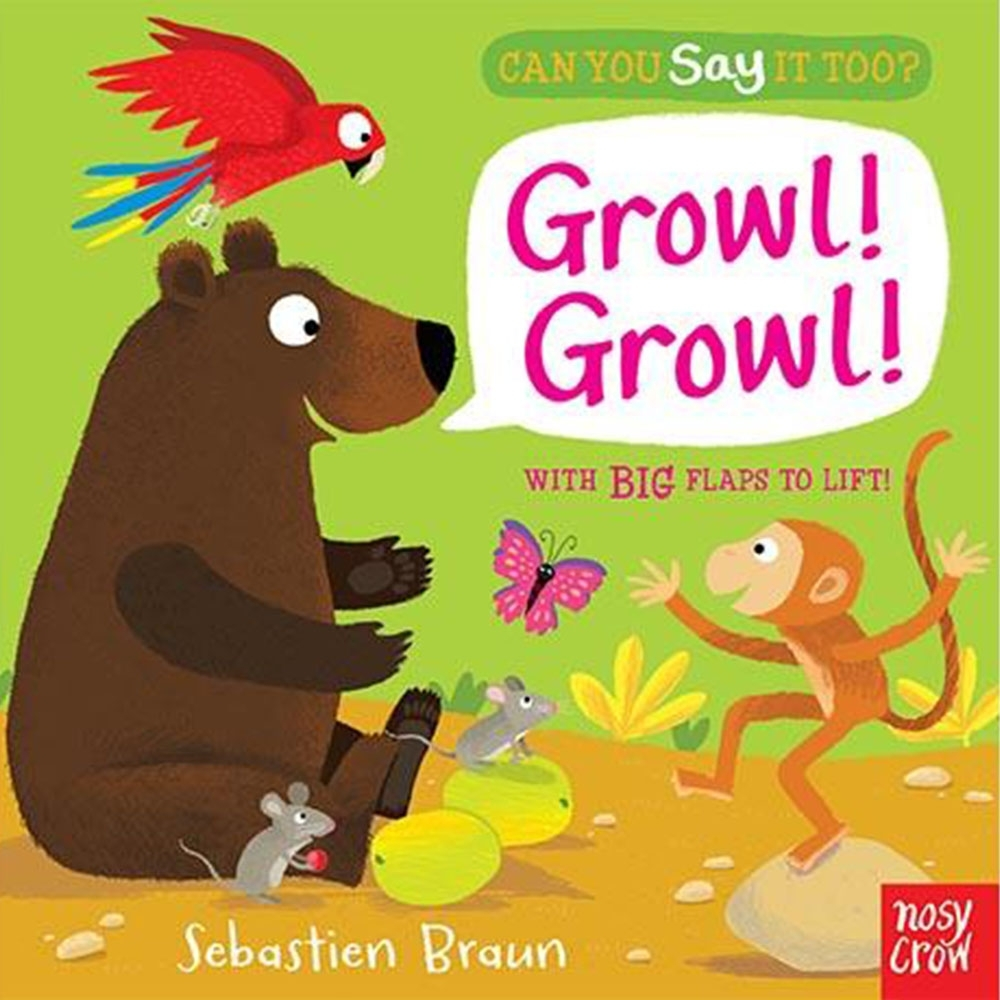 Can You Say It Too?Growl! Growl! 野外動物翻翻書(美國版)