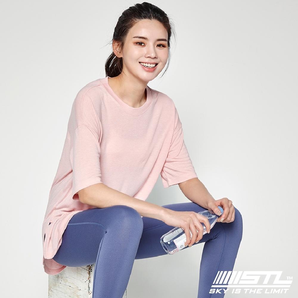 STL yoga MONO MODAL SS 韓國瑜珈 運動機能 落肩男友長版 訓練上衣 莫代爾地鐵寬T 寶寶粉