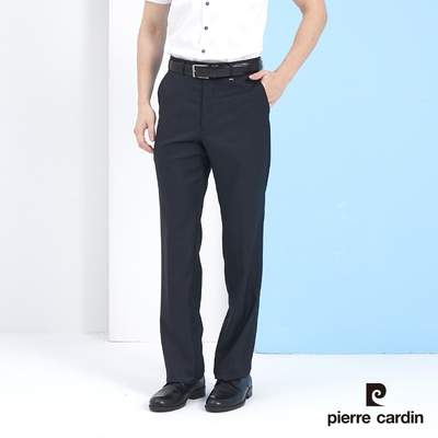 Pierre Cardin皮爾卡登 男裝 彈性暗紋平口西裝褲-黑色 (5217841-99)