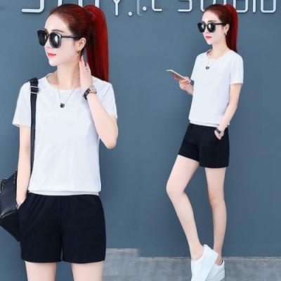 【韓國K.W.】(預購)韓風時尚運動套裝褲-1色