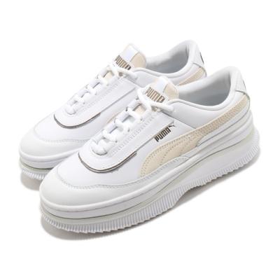 Puma 休閒鞋 Deva Mixed Metallic 女鞋 厚底 舒適 質感 簡約 球鞋 穿搭 白 米白 37392001