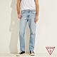GUESS-男裝-ORIGINALS系列水洗修身直筒牛仔褲-淺藍 原價3990 product thumbnail 1