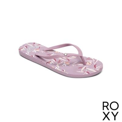 【ROXY】BERMUDA PRINT 夾腳拖 淺紫