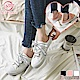 NEW FORCE 浪漫緞帶帆布穆勒鞋-白色