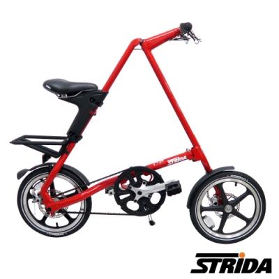 英國 STRiDA速立達 LT特仕版16吋單速碟剎/皮帶傳動/折疊後可推行/三角形單車-亮紅