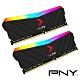 PNY XLR8 RGB DDR4-3200 16G桌上型記憶體(8Gx2) product thumbnail 1