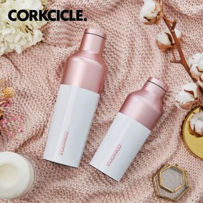 美國CORKCICLE Color Block系列三層真空易口瓶/保溫瓶470ml-粉鑽白