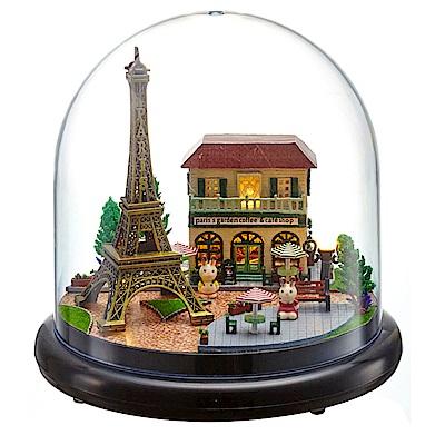 半島良品 DIY微景觀LED燈精緻小屋- 浪漫巴黎