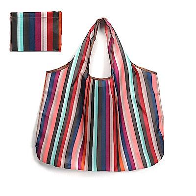 環保摺疊購物袋繽紛條紋